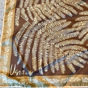 Vintage Vera Neumann Scarf Brown w/ Tan Ferns